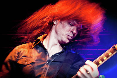 Dave Mustaine Photograph - Chris Broderick Flying  by Luigi Orru