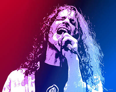 Mixed Media Rights Managed Images - Chris Cornell 326 Royalty-Free Image by Greg Joens