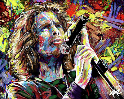 Soundgarden Painting - Chris Cornell Art, Soundgarden by Ryan Rock Artist