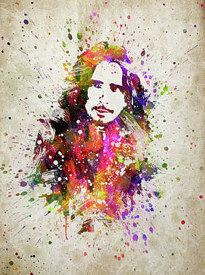 Soundgarden Digital Art - Chris Cornell In Color by Aged Pixel