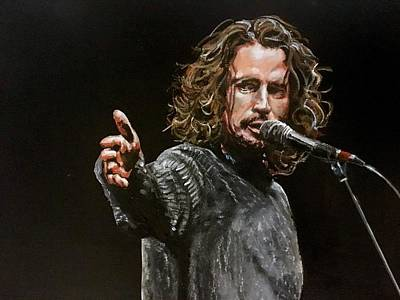 Soundgarden Painting - Chris Cornell by Joel Tesch
