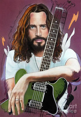 Chris Rock Pastel - Chris Cornell by Melanie D