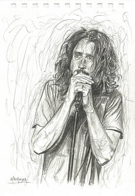 Drawing - Chris Cornell by Michael Morgan