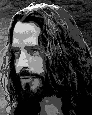 Soundgarden Digital Art - Chris Cornell by Monica Moody