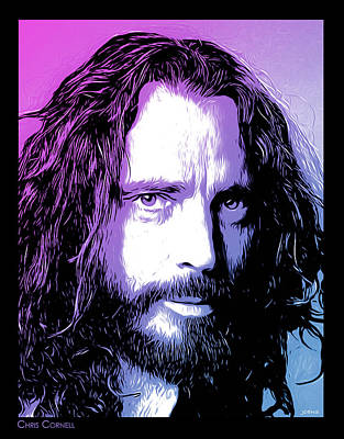 Digital Art - Chris Cornell Tribute by Greg Joens