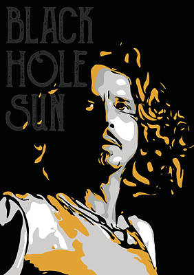 Soundgarden Digital Art - Chris Cornell by Greatom London