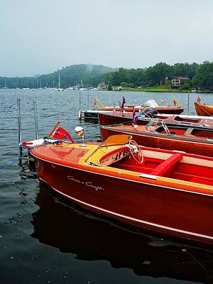 Photograph - Chris Craft And Garwood Boats In Harbor by Michelle Calkins