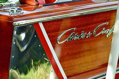 Photograph - Chris Craft Detail by Dean Ferreira