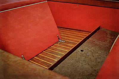 Photograph - Chris Craft Interior With Red by Michelle Calkins
