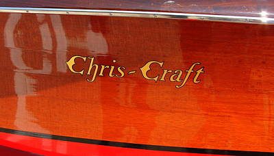Wooden Boat Photograph - Chris Craft Logo by Michelle Calkins