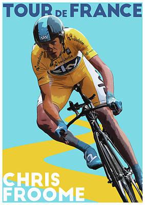 Giro Digital Art - Chris Froome by Semih Yurdabak