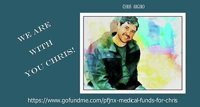 Mixed Media - Chris Go Fund Me by Barbara Chichester