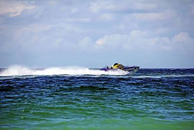 Photograph - Chris Gone Wilder 112 Power Boat by Debbie Oppermann