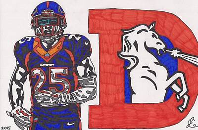 Drawing - Chris Harris Jr  by Jeremiah Colley