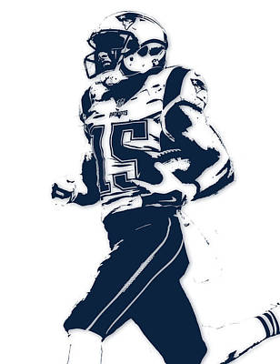 Chris Hogan New England Patriots Pixel Art Art Print
