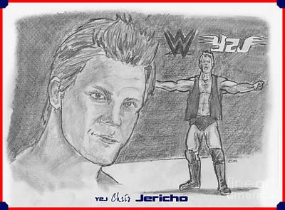 Drawing - Chris Jericho- Y2j by Chris  DelVecchio