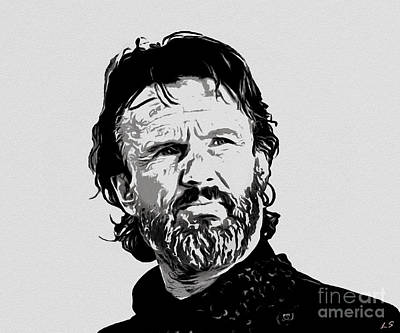 Drawing - Chris Kristofferson Collection - 1 by Sergey Lukashin