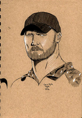 Painting - Chris Kyle by Frank Middleton