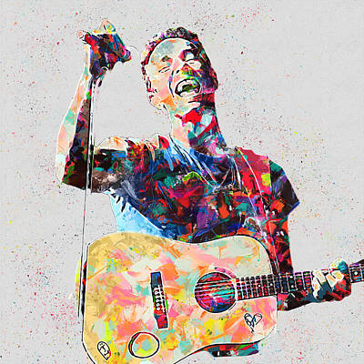Coldplay Painting - Chris Martin by Mahes Ardian