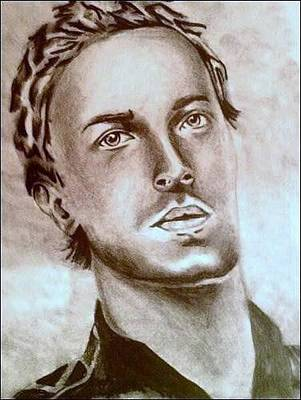 Coldplay Drawing - Chris Martin by Pauline Murphy