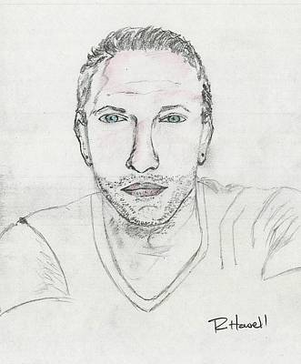 Coldplay Drawing - Chris Martin  by Richard Howell