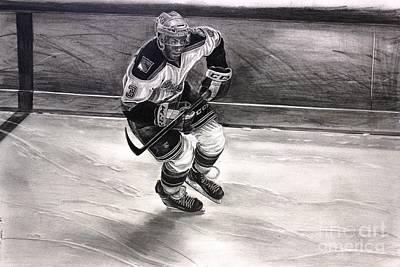 Nhl Ice Hockey Drawing - Chris Mccarthy Hartford Wolf Pack New York Rangers by Gary Reising