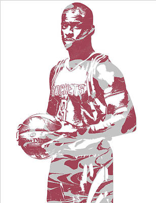 Mixed Media - Chris Paul Houston Rockets Pixel Art 1 by Joe Hamilton