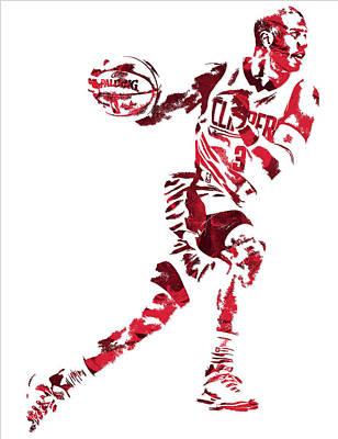 Chris Paul Los Angeles Clippers Pixel Art 10 Art Print