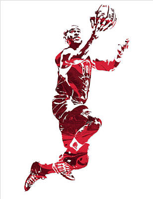 Chris Paul Los Angeles Clippers Pixel Art 11 Art Print