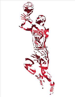 Chris Paul Los Angeles Clippers Pixel Art 8 Art Print