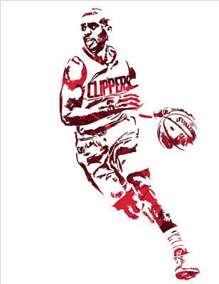 Chris Paul Los Angeles Clippers Pixel Art 9 Art Print