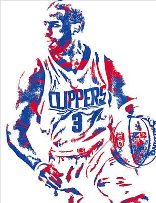 Los Angeles Clippers Mixed Media - Chris Paul Losangeles Clippers Pixel Art 5 by Joe Hamilton