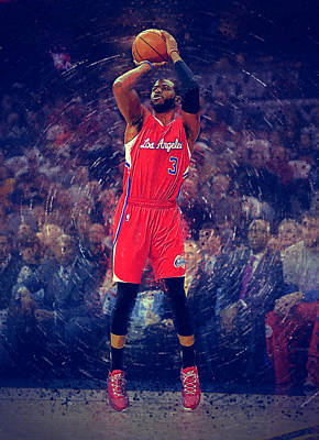 Blake Digital Art - Chris Paul by Semih Yurdabak