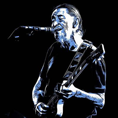 Digital Art - Chris Rea by Maciek Froncisz