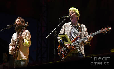 Chris Robinson And Phil Lesh With Phil Lesh And Friends Art Print