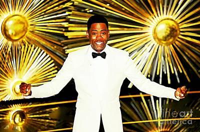 Hbo Digital Art - Chris Rock At The Oscars by John Malone