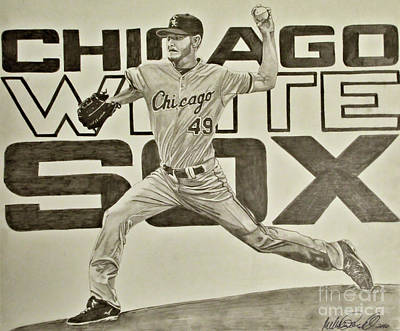 Drawing - Chris Sale by Melissa Goodrich