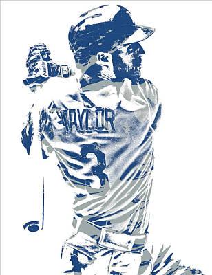 Los Angeles Dodgers Mixed Media - Chris Taylor Los Angeles Dodgers Pixel Art 5 by Joe Hamilton