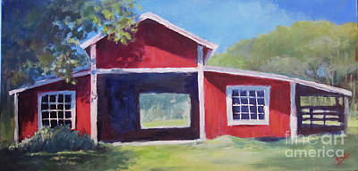 Painting - Chris's Barn by Carol Hart