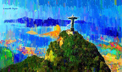 Bread Painting - Christ Above All In Rio 1 - Pa by Leonardo Digenio