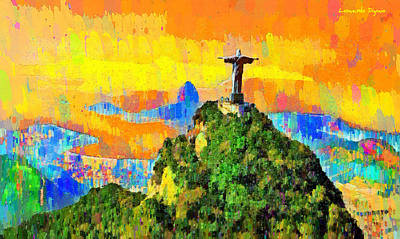 Open Painting - Christ Above All In Rio 2 - Pa by Leonardo Digenio