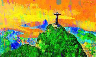 Arm Digital Art - Christ Above All In Rio 3 - Da by Leonardo Digenio
