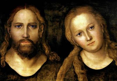Christ And Mary Art Print by Lucas Cranach the Elder