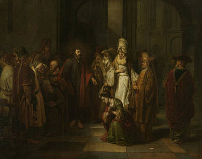 Painting - Christ And The Adulterous Woman by Gerbrand van den Eeckhout