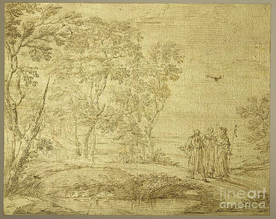 Emmaus Painting - Christ And The Disciples On The Road To Emmaus by Pier Francesco Cittadini