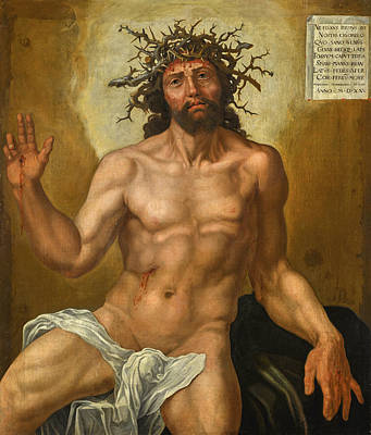 Painting - Christ And The Man Od Sorrows by Maerten van Heemskerck