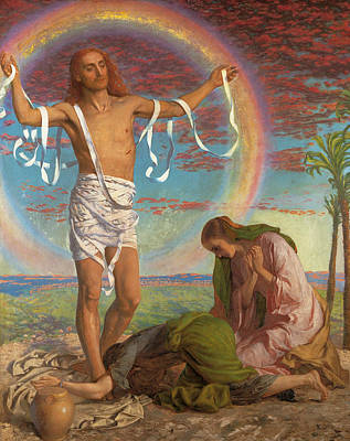 Painting - Christ And The Two Marys by William Holman Hunt