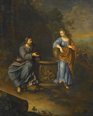Painting - Christ And The Woman Of Samaria by Frans van Mieris the Younger