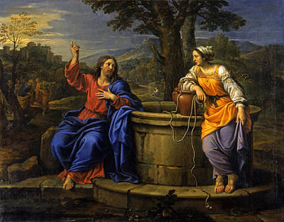 Woman At The Well Painting - Christ And The Woman Of Samaria by Pierre Mignard