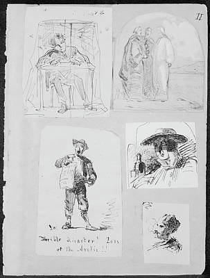 Christ And Two Disciples On The Road To Emmaus From Sketchbook Original by James McNeill Whistler
